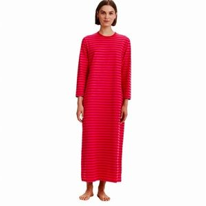 Marimekko Katju Red Stripe Dress 128-134 Sz XS